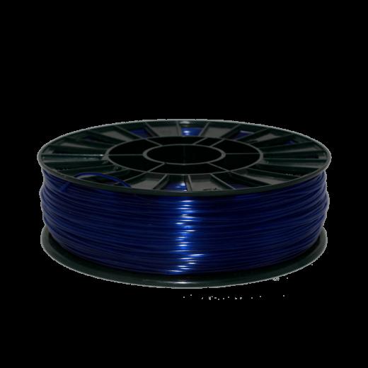 Пруток для 3D печати PETG 750 г Синий прозрачный 1.75мм