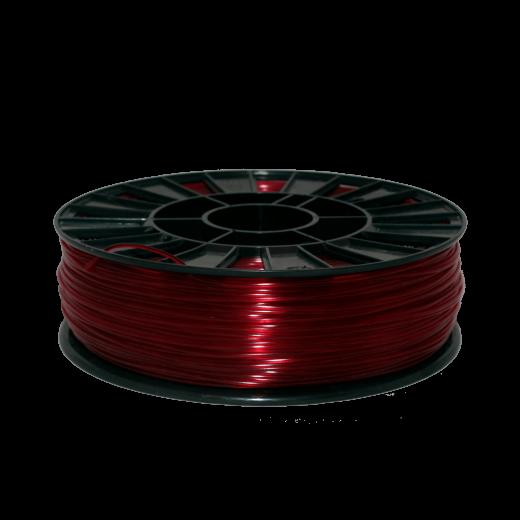 Пруток для 3D печати PETG 750 г Красный прозрачный 1.75мм