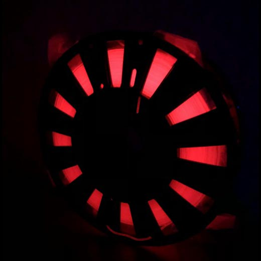 PLA светящийся пластик ELEMENT для 3D принтера 500 г Люминесцентный Красным 1.75мм