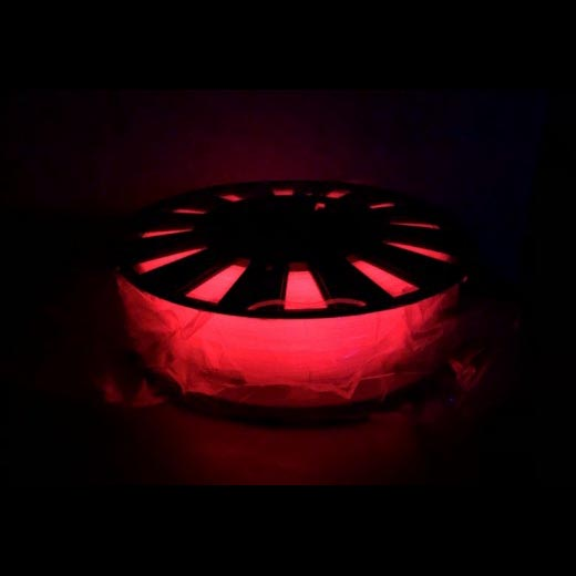 PLA светящийся пластик для 3D принтера 500 г Люминесцентный Красным 1.75мм