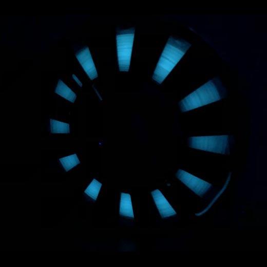 PLA светящийся пластик ELEMENT для 3D принтера 500 г Люминесцентный Голубым 1.75мм