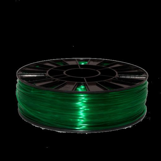 SBS пластик для 3D принтера 750 г Зеленый прозрачный 1.75мм